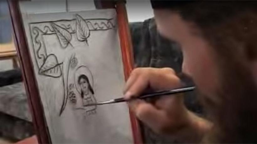 Painting-icon-on-the-glass-Icon-Spirit-Studio-present