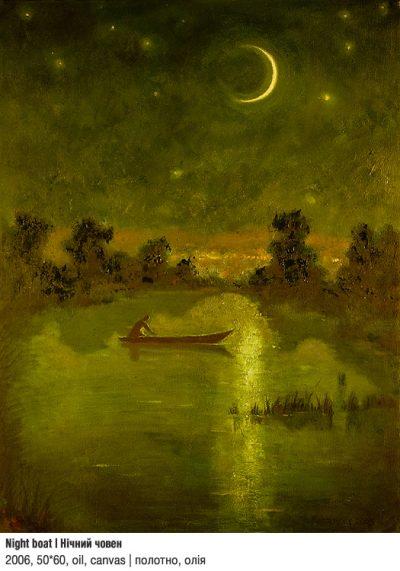 Art Studio by Sergiy Burtovyy - painting - Night boat