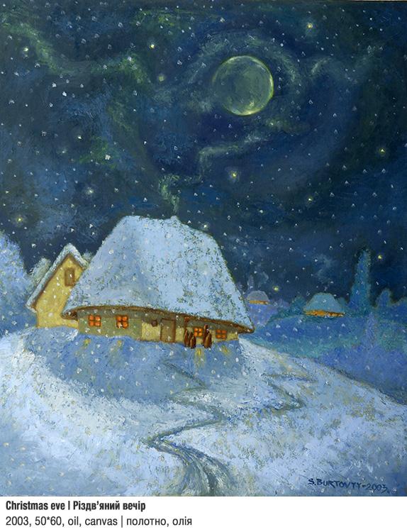 Art Studio by Sergiy Burtovyy - painting - Christmas eve