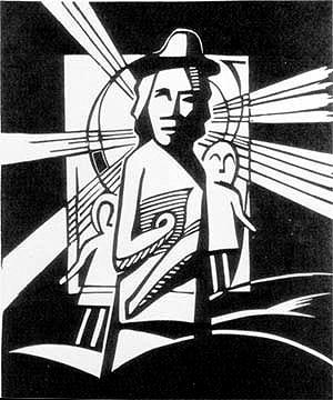 Art Studio by Sergiy Burtovyy - linocut - witnesses